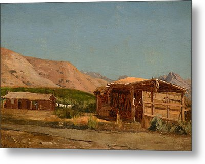 Hamilton's Ranch Nevada  Metal Print by Celestial Images