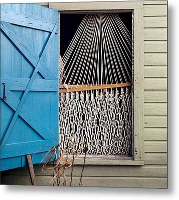 Metal Print featuring the photograph Hammock In Key West Window by Brent L Ander