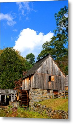 Hammond Gristmill Rhode Island Metal Print by Lourry Legarde