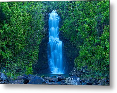 Hana Waterfall Metal Print