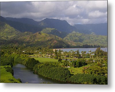 Hanalei Bay Morning Metal Print
