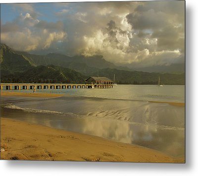 Hanalei Bay Reflections Metal Print by Stephen  Vecchiotti