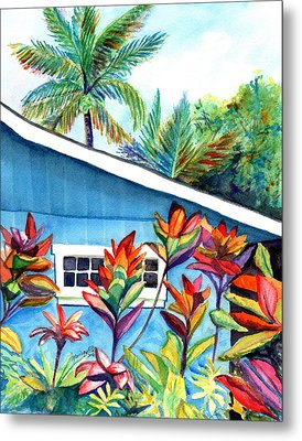 Metal Print featuring the painting Hanalei Cottage by Marionette Taboniar