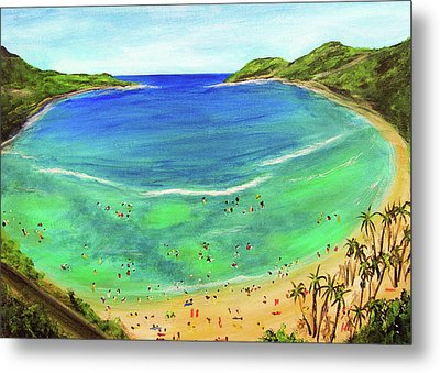Hanauma Bay Hawaiian #336 Metal Print by Donald k Hall