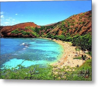 Hanauma Bay Nature Preserve Metal Print by Kristine Merc