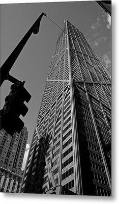 Hancock - Chicago - Metal Print by Miranda  Miranda