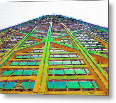 Hancock Chicago Metal Print by Russ Harris