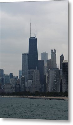 Hancock Tower And Chicago Skyline Metal Print by Richard Andrews