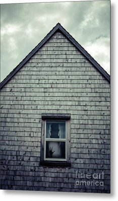 Hand In The Window Metal Print by Edward Fielding