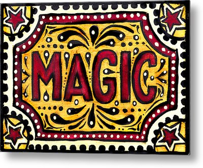 Metal Print featuring the painting Hand Painted Magic  by Nada Meeks