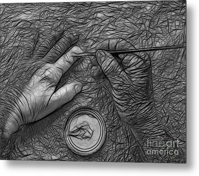 Hand Painting Metal Print