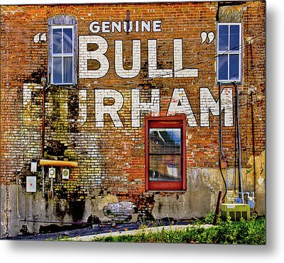 Metal Print featuring the photograph Handpainted Sign On Brick Wall by David and Carol Kelly