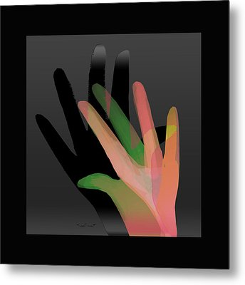 Hands In Pair Metal Print by Asok Mukhopadhyay