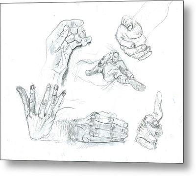 Hands Metal Print by Joseph  Arico