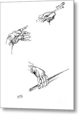 Hands Of A Violin Player Metal Print