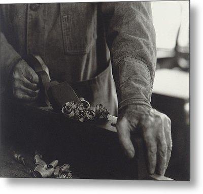 Hands Of Shaker Brother Ricardo Belden Metal Print by Everett