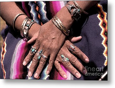 Hands Of The Earth Metal Print by Linda  Parker