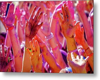 Hands Up-2 Metal Print by Okan YILMAZ
