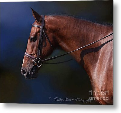 Handsome Profile Metal Print