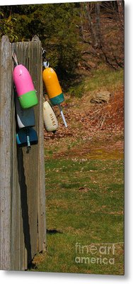 Metal Print featuring the photograph Hanging Buoys by Debbie Stahre
