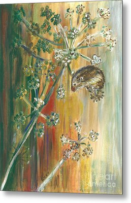 Hanging On - Painting Metal Print by Veronica Rickard