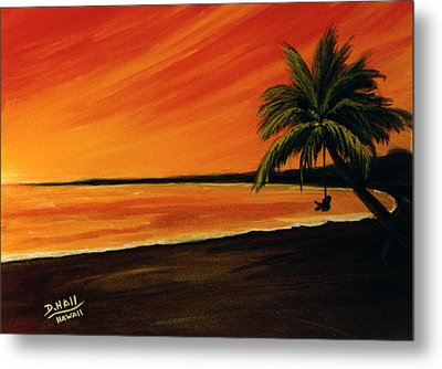 Hanging Out At The Beach #153 Metal Print by Donald k Hall
