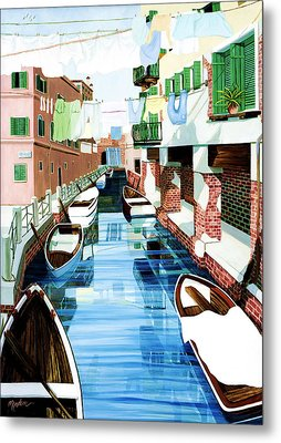 Hanging Out In Venice Metal Print by Mary Grden's Baywood Gallery