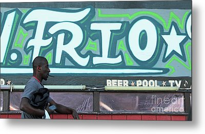Metal Print featuring the photograph Hanging Out On Frio Street by Joe Jake Pratt