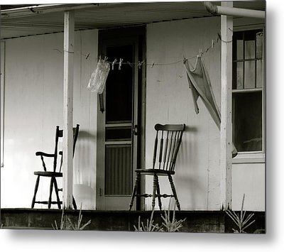 Hanging Out On The Porch Metal Print