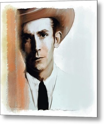 Hank Williams Faiths Fire Metal Print by Iconic Images Art Gallery David Pucciarelli