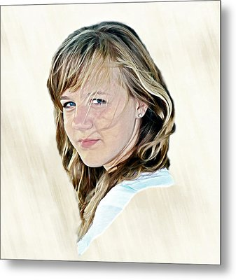 Hannah Portrait Metal Print by Randy Steele