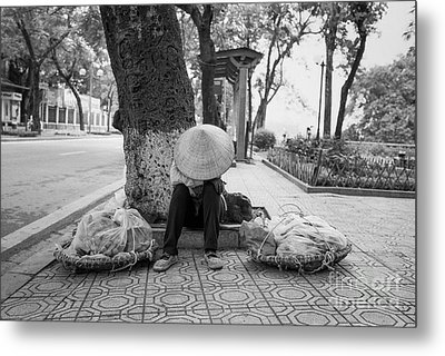 Metal Print featuring the photograph Hanoi Street Vendor by Dean Harte