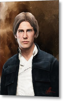 Hans Solo Star Wars  Metal Print by Michael Greenaway