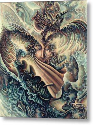 Hansa Swann Metal Print by Nad Wolinska