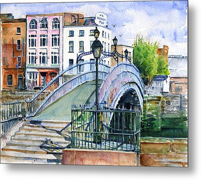 Ha'penny Bridge Dublin Metal Print