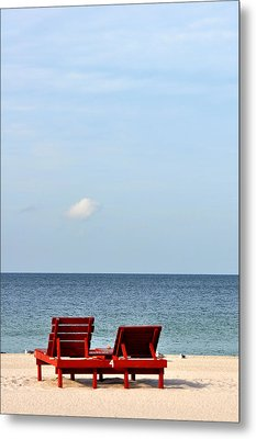Happiness Is A Beach Metal Print by Rose  Hill