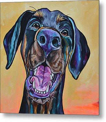 Happiness Is A Dog Metal Print by Patti Schermerhorn