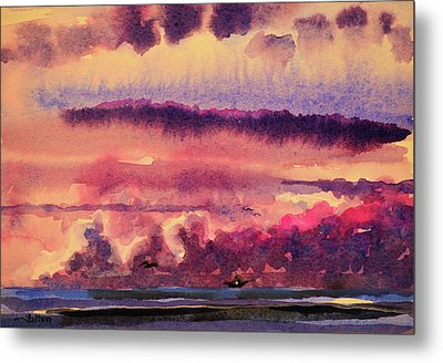 Morning Clouds On The Ocean  Metal Print