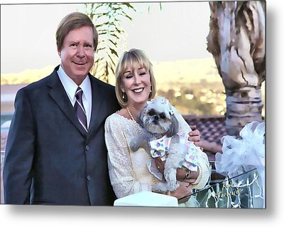 Metal Print featuring the photograph Happy Anniversary Ron And Barb by Kathy Tarochione