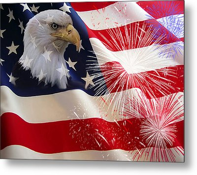 Happy Birthday America Metal Print by Evelyn Patrick