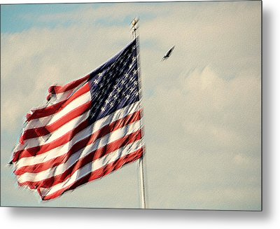 Happy Birthday America Metal Print by Susanne Van Hulst
