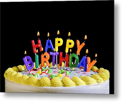 Happy Birthday Candles Metal Print by Diane Diederich