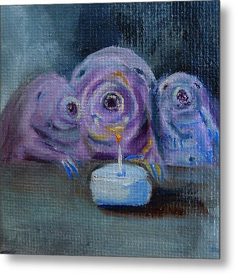 Metal Print featuring the painting Happy Birthday Water Bear You Are Loved by Jessmyne Stephenson