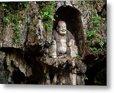 Happy Buddha Metal Print by Harry Spitz