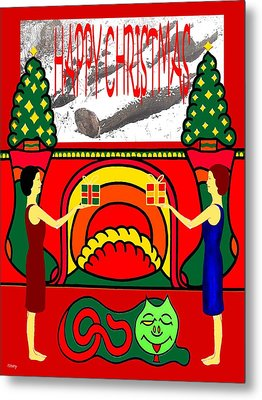 Happy Christmas 32 Metal Print by Patrick J Murphy