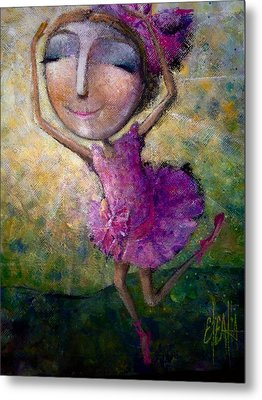 Metal Print featuring the painting Happy Dance by Eleatta Diver