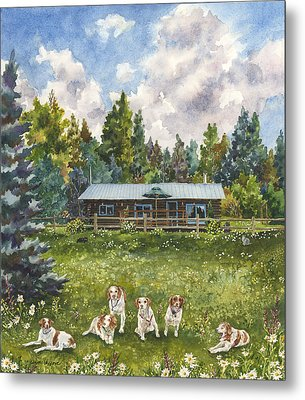 Happy Dogs Metal Print by Anne Gifford