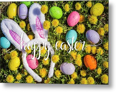 Metal Print featuring the photograph Happy Easter by Teri Virbickis