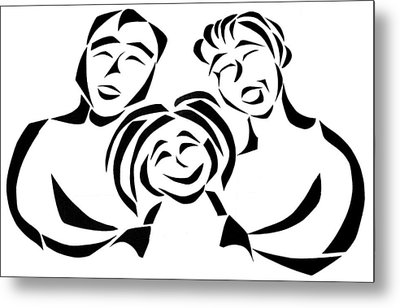 Happy Family Metal Print by Delin Colon