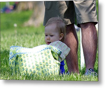 Happy Father's Day Metal Print by Jenny Gandert